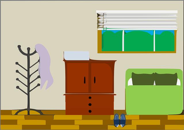 部屋のイラスト